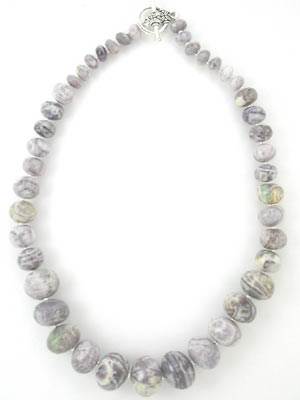 purple crazy lace agate necklace