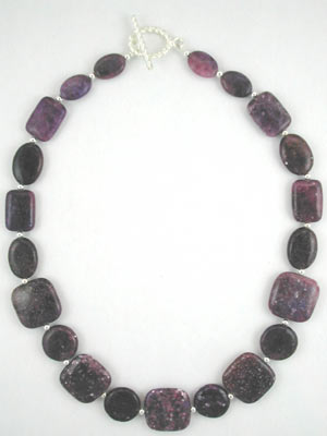 handmade purple lepidolite necklace