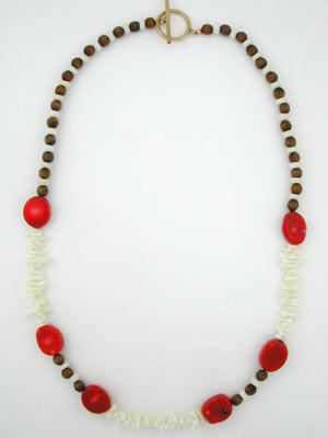 red and white coral necklace