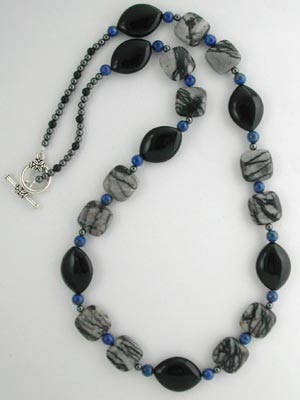 jasper and lapis necklace
