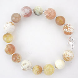 yellow agate gemstone bracelet