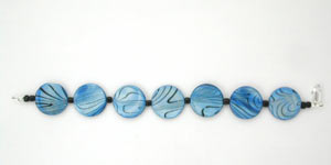 blue mother of pearl bracelet