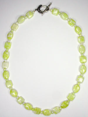 lemon jade gemstone necklace