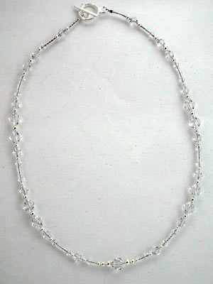 Swarovski crystal beaded necklace