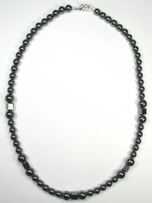 handmade hematite necklace