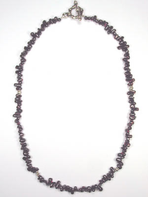 garnet gemstone necklace
