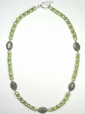 green pearl and jade gemstone necklace