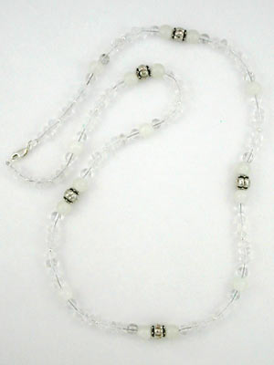 handmade rock crystal quartz necklace