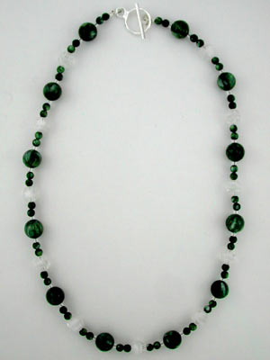 Seraphinite gemstone necklace