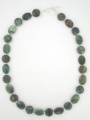 genuine emerald necklace