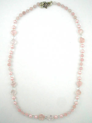 Beaded rose quartz jewelry