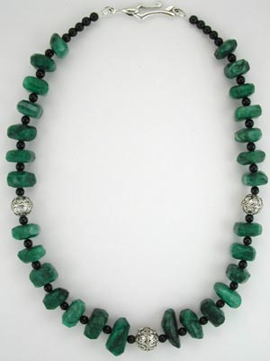 large beaded emerald necklace