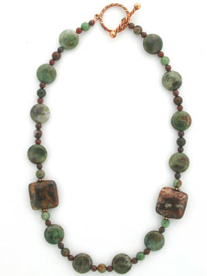 Australian green opal necklace