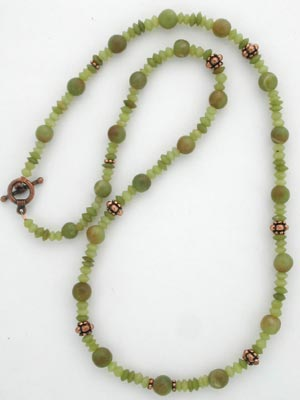 handmade serpentine beaded necklace
