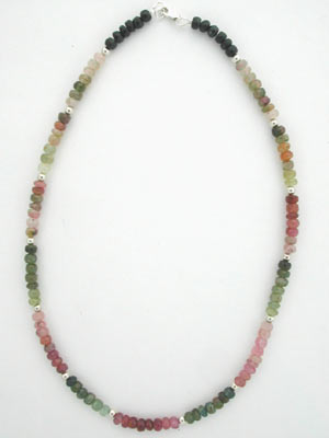 handmade tourmaline necklace
