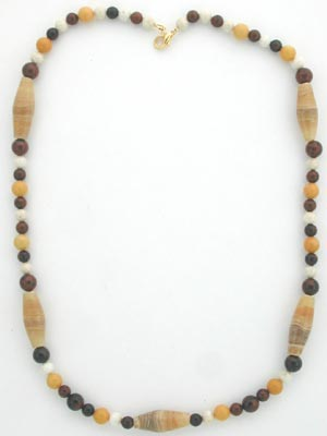 blond onyx beaded necklace