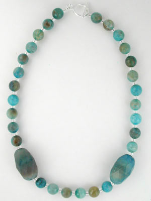 blue quartz gemstone necklace