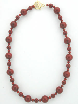 red shell pearl necklace
