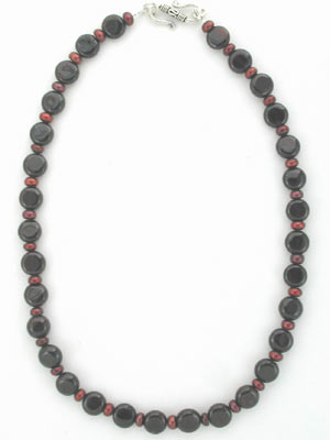 handmade garnet gemstone necklace