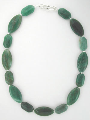 green avanturine gemstone necklace