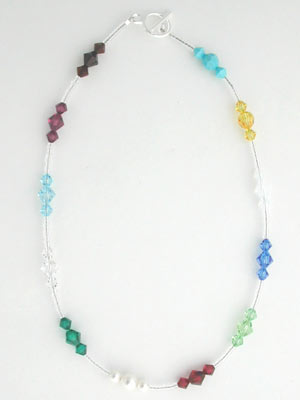Swarovski crystal birthstones necklace