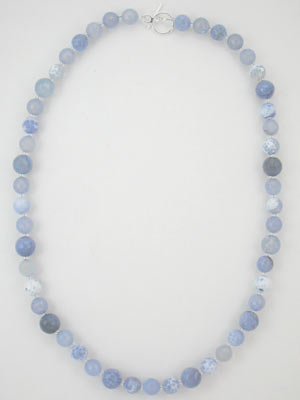 blue fire agate necklace