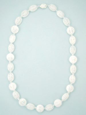 frosted quartz necklace