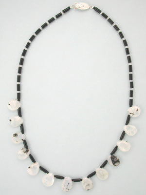 tourmalated Moonstone necklace