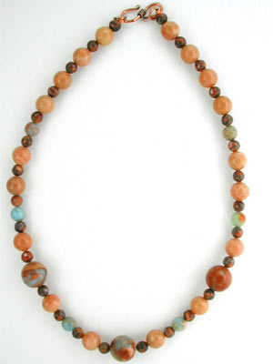 African blue opal necklace