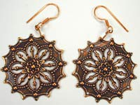 copper handmade earrings