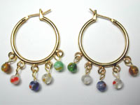 millefiori glass hoop earrings