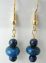 lapis handmade gemstone earrings