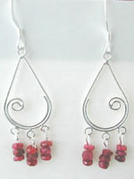 ruby handmade gemstone earrings