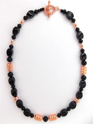 copper and onyx necklace