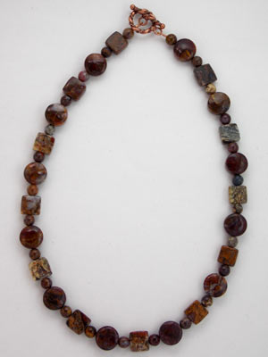 handmade pietersite gemstone necklace