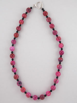 pink crazy lace necklace