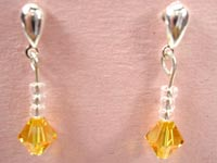 Swarovski light topaz earrings