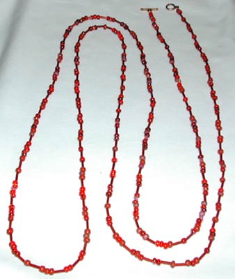 Seed Bead Red Necklace