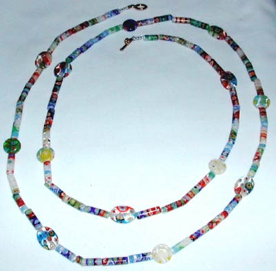 Multi Color Millefiori Necklace
