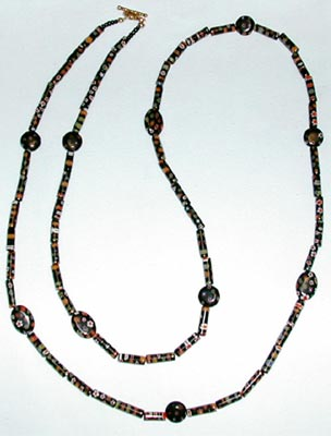 Black Millefiori Necklace