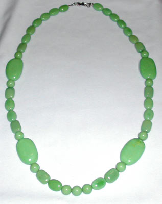 Apple Green Turquoise necklace