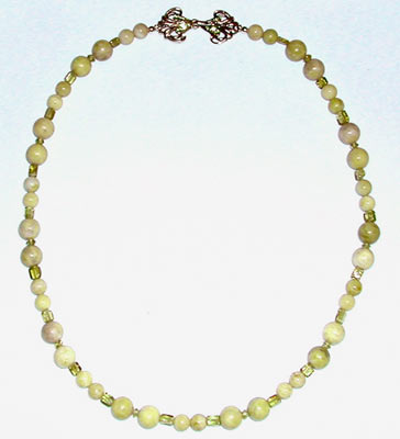 Peridot Jasper and Peridot Necklace