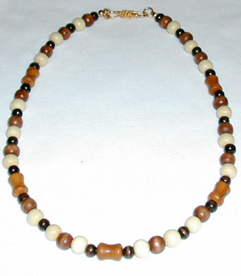 Jasper and Wood Necklace