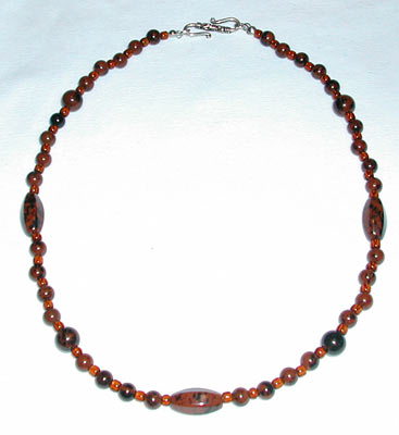 Mahogany Obsidian Brown Necklace