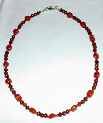 Poppy Jasper and Red Jasper Necklace