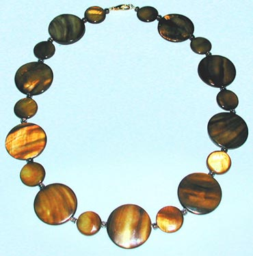 Brown Mother of Pearl Necklace