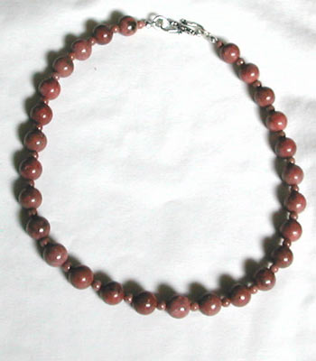 Rhodonite Gemstone Necklace