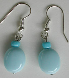 Light Blue Quartz Earrings