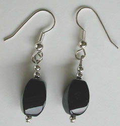 Large Twist Onyx Earrings