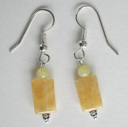 Yellow Calcite Earrings